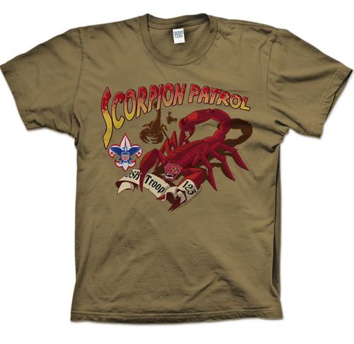 Scouts BSA Patrol Shirt with Scorpion Patrol