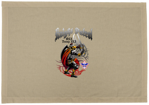 Scouts BSA Patrol Flag with Knight Patrol Flag