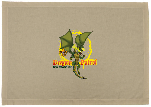 Scouts BSA Patrol Flag with Dragon Patrol Flags