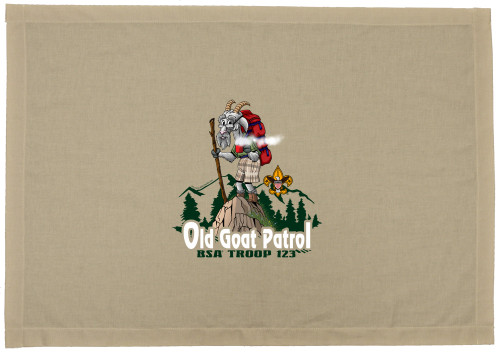 Scouts BSA Patrol Flag with Goat Patrol Flag