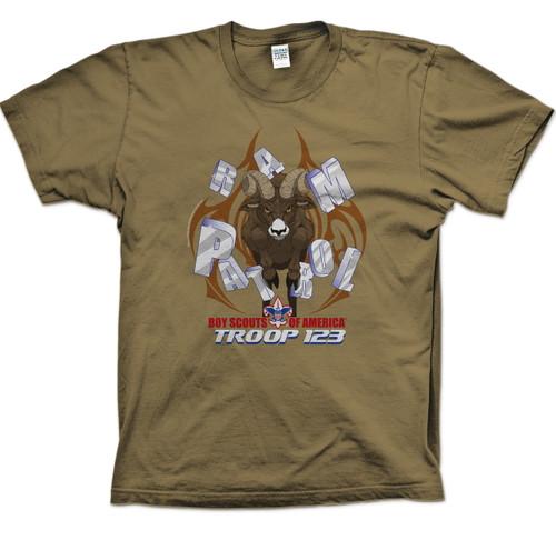 Scouts BSA Patrol Shirt with Ram Patrol