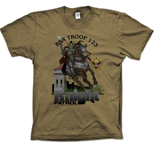 Scouts BSA Patrol Shirt with Knight on Horse Patrol