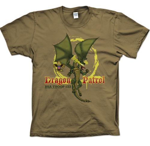 Scouts BSA Patrol Shirts with Dragon Patrol Design