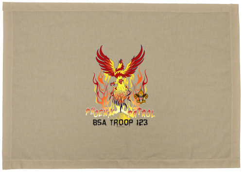 Scouts BSA Patrol Flag with Fire Phoenix Patrol Design