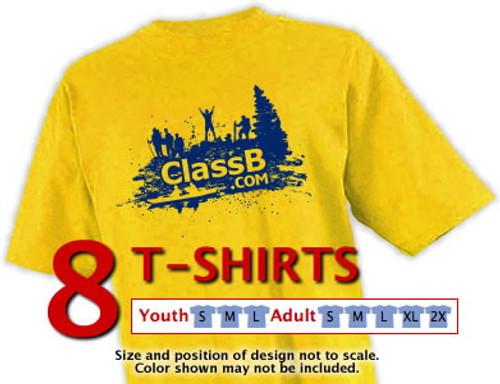 Gildan t-shirt size sample kit