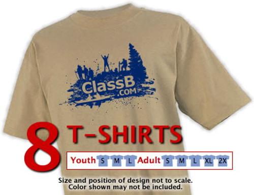 Gildan cotton t-shirt size sample kit