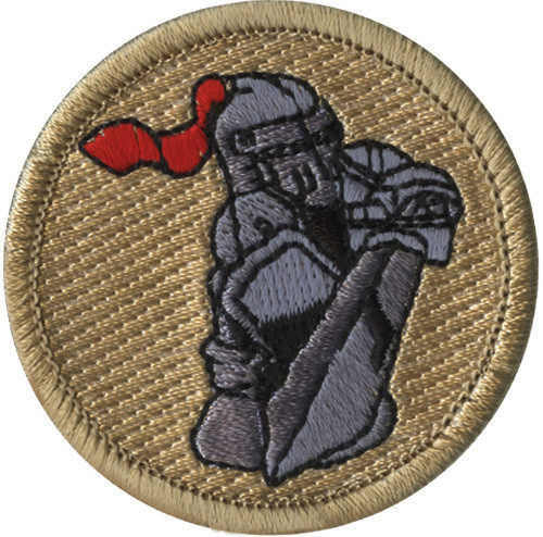 Knight with Sword Scout Patrol Patch - embroidered 2 inch round