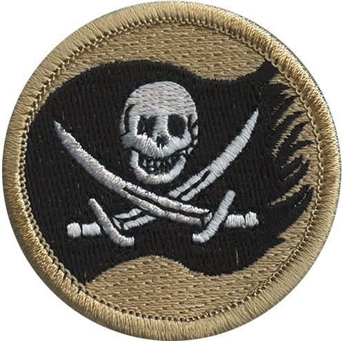 Jolly Roger Scout Patrol Patch - embroidered 2 inch round