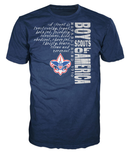 Scouts BSA Graphic Tee With Scout Law Design - Navy
