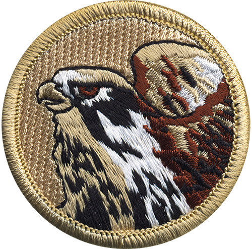 Falcon Scout Patrol Patch - embroidered 2 inch round