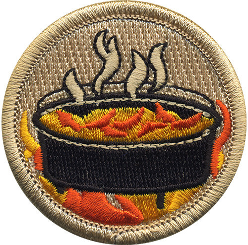Dutch Oven Scout Patrol Patch - embroidered 2 inch round