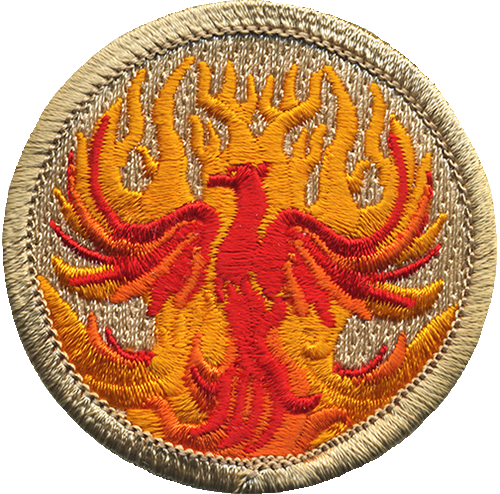 Phoenix Scout Patrol Patch - embroidered 2 inch round