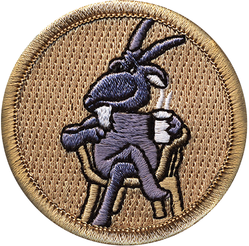 Old Goat Scout Patrol Patch - embroidered 2 inch round