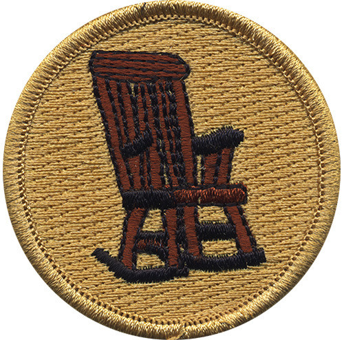 Rocking Chair Scout Patrol Patch - embroidered 2 inch round