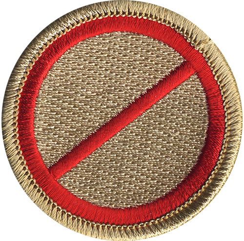 No Name Scout Patrol Patch - embroidered 2 inch round