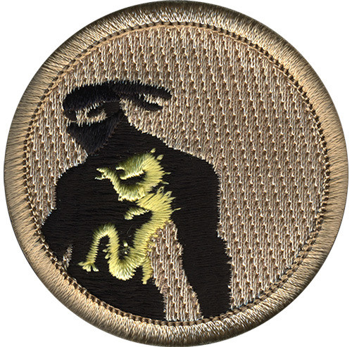 Ninja Scout Patrol Patch - embroidered 2 inch round