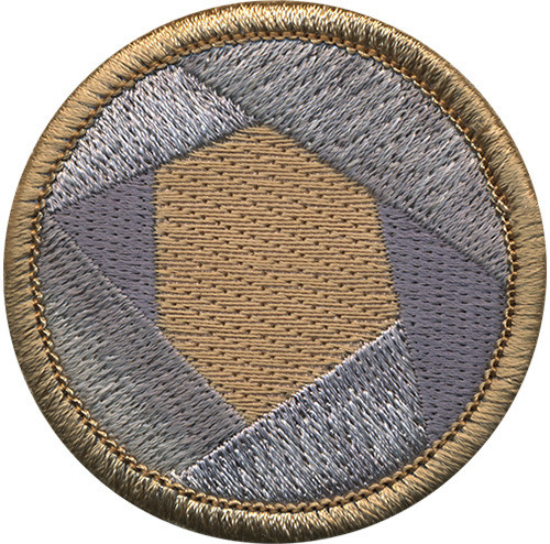 Duct Tape Scout Patrol Patch - embroidered 2 inch round