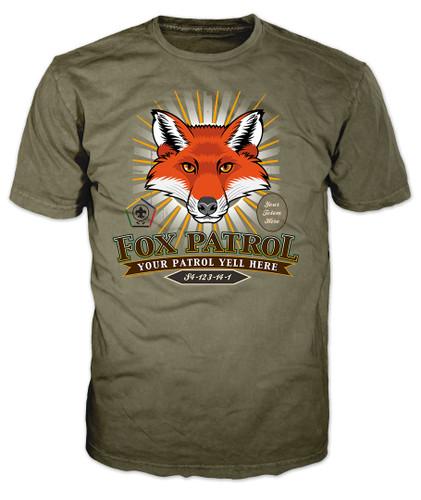 Custom Wood Badge Sunburst Fox Patrol T-Shirt (SP5086)