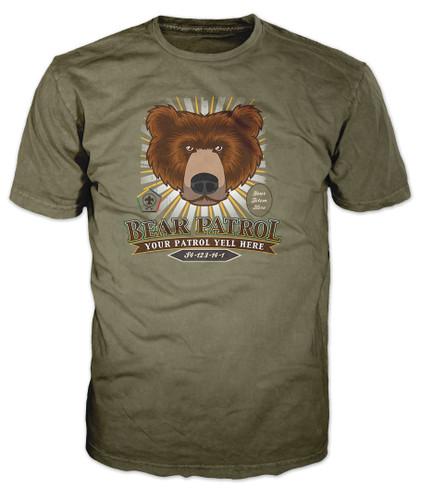 Custom Wood Badge Sunburst Bear Patrol T-Shirt (SP5088)
