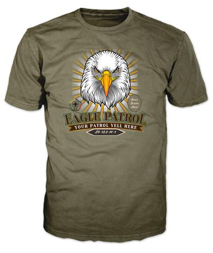 Wood Badge Shirt with Wood Badge Eagle with Wood Badge Logo