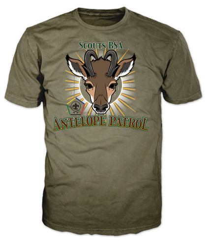 Wood Badge Patrol Shirt with Wood Badge Antelope and Wood Badge Logo