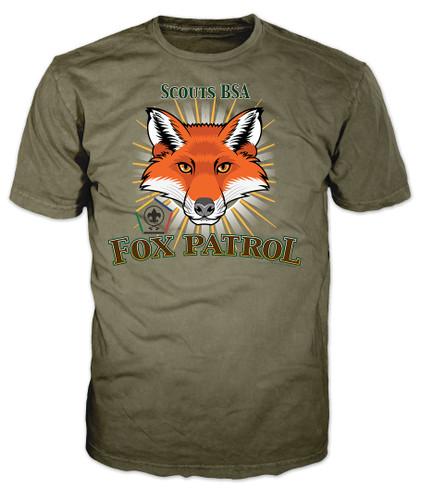 Wood Badge Patrol Shirt with Wood Badge Fox Critter and Wood Badge Logo