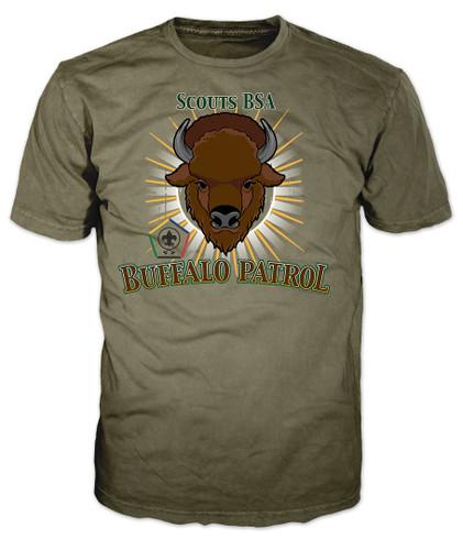 Wood Badge Patrol Shirt with Wood Badge Buffalo Critter and Wood Badge Logo