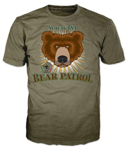 Wood Badge Patrol Shirt with Wood Badge Bear Critter and Wood Badge Logo
