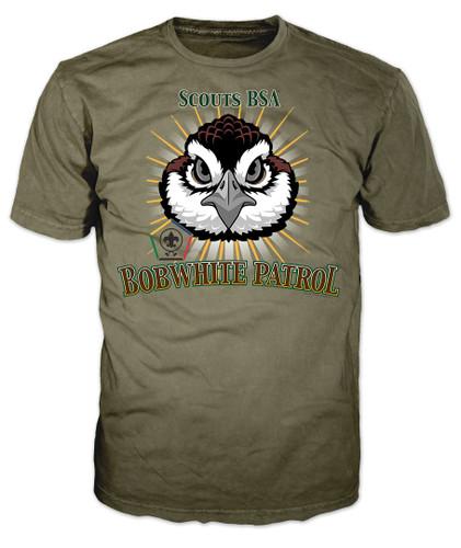 Wood Badge Patrol Shirt with Wood Badge Bobwhite Critter and Wood Badge Logo