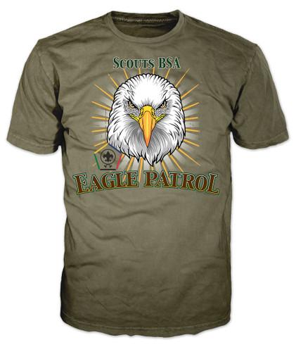 Wood Badge Patrol Shirt with Wood Badge Eagle Critter and Wood Badge Logo