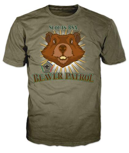 Wood Badge Patrol Shirt with Wood Badge Beaver Critter and Wood Badge Logo