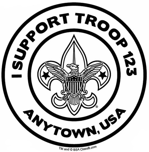 Custom I Support Scouts BSA Troop Car Sticker (SP5492)