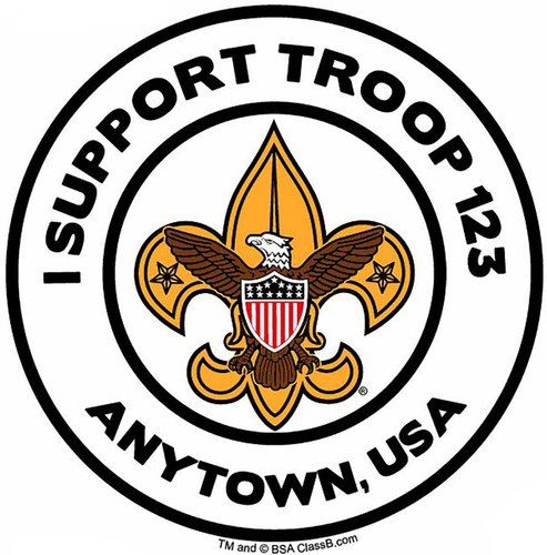 Scouts BSA Troop Sticker Pack with BSA Universal Logo