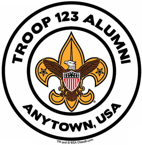 Scouts BSA Troop Sticker 8 pack - Alumni with Color Logo (SP5487)