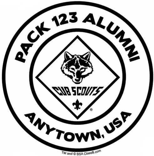 Custom Cub Scout Pack Alumni Car Sticker (SP5488)