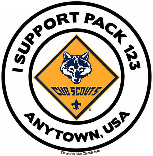 Cub Scout Pack Sticker Pack with Cub Scout Logo