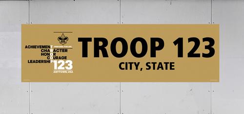 BSA Troop Banner with BSA Logo