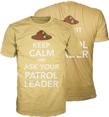 Scouts BSA Graphic Tee With Keep Calm and Ask Your Patrol Leader Design - Both Sides