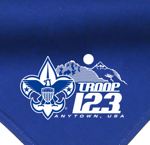Scouts BSA Troop Neckerchief with Scouting Mountains (SP5618)