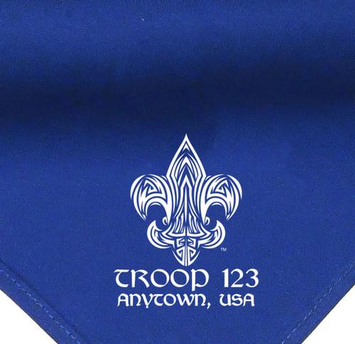 Custom Digitally Printed Boy Scout Troop Neckerchief with Troop Tribal Tattoo (SP2104)