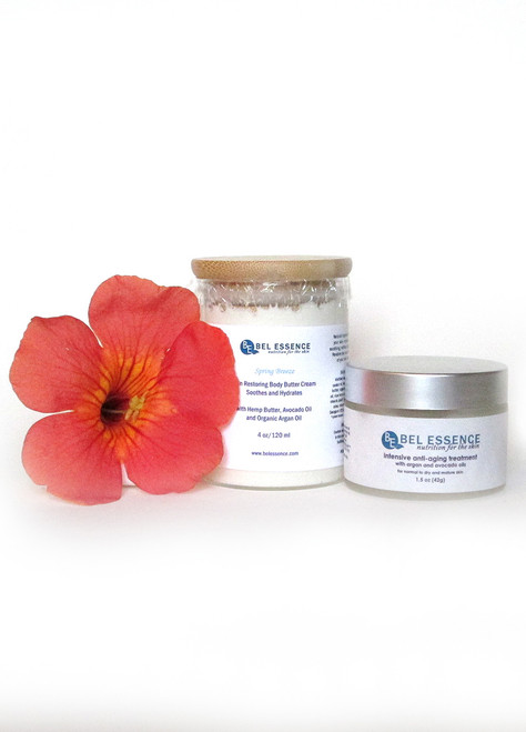 Skin Restoring Body Butter Cream (Spring Breeze) and Anti Aging, Anti Wrinkle Face Cream