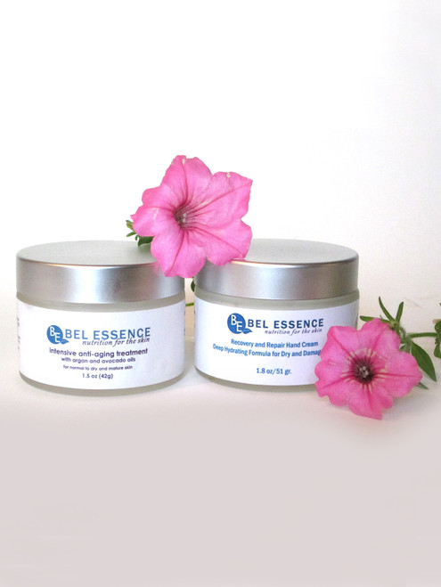 Anti Aging Face Moisturizer and Recovery and Repair Hand Cream Duo