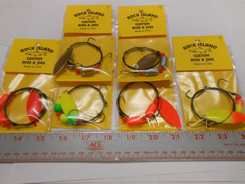 WALLEYE FLOAT WIRE RIGS WORM HARNESSES WILLOW # 4