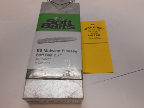 """DO-IT MIDWEST FINESSE 2.5"""" SOFT BAIT MOLD MFR-8-27 96024"""