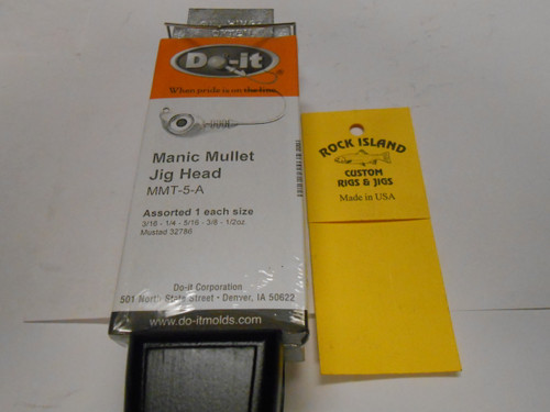 DO-IT MANIC MULLET JIG MOLD 3531 3/16, 1/4, 5/16, 3/8, 1/2
