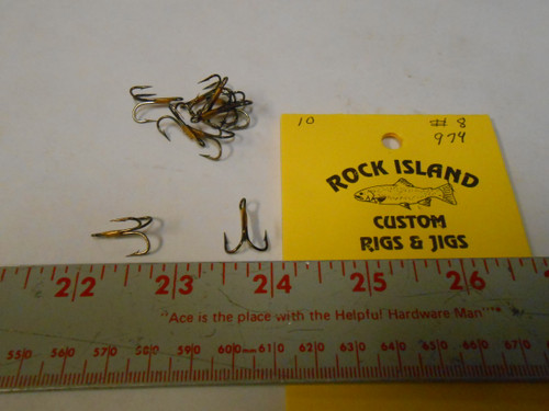Eagle Claw # 974 2X Treble Hooks  10 ct