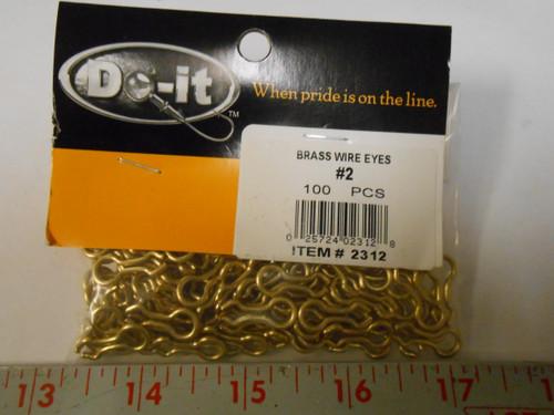 D0-It Brand Brass Wire Eyes