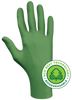 Showa 6110PF Biodegradable Disposable Nitrile Gloves, Green, Case of 10 Boxes