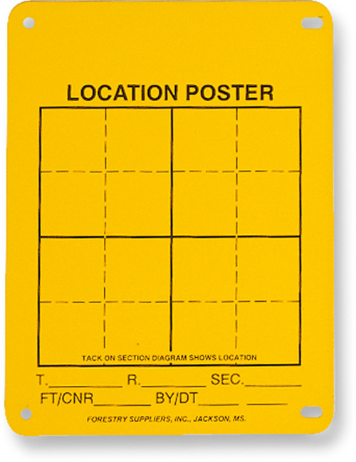 Aluminum Location Posters, Corner Tags, Pack of 100