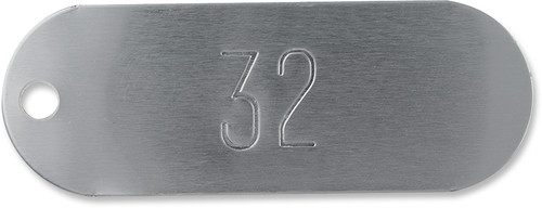 Racetrack Tags, Aluminum Oval Tags - Numbered